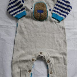 Knitted bear romper outfit 0-3 months