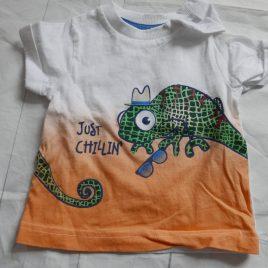 'just chillin' t-shirt 0-3 months