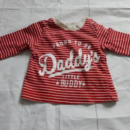 Red stripy 'Daddy' top 0-3 months