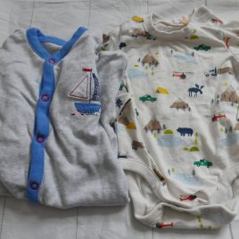 Long sleeved bodysuit & sleepsuit 0-3 months