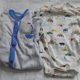 Long sleeved bodysuit & sleepsuit 0-3 months
