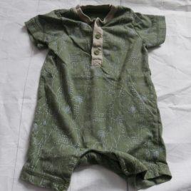 Khaki romper 0-3 months