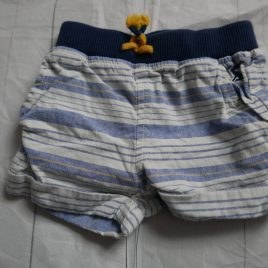 Joules blue & white striped shorts 3-6 months