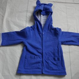 Joules blue hooded summer jacket  3-6 months