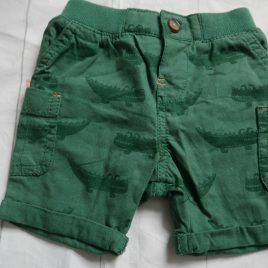 Green crocodile shorts 3-6 months