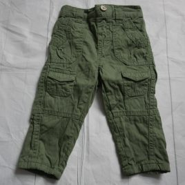 Khaki green trousers 3-6 months