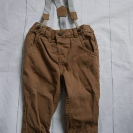 Brown trousers with braces 3-6 months