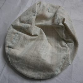 Beige checked cap sun hat 3-6 months