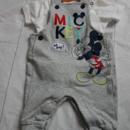 Mickey Mouse bodysuit &  dungarees outfit 3-6 months