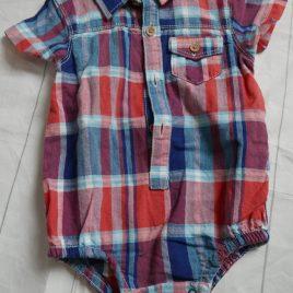 Red & blue shirt bodysuit 3-6 months