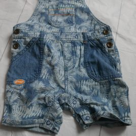 Shortie dungarees 3-6 months