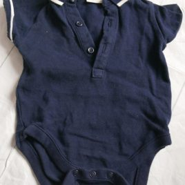 Next navy t-shirt bodysuit 3-6 months