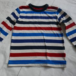 Next red, blue & oatmeal striped top 18-24 months