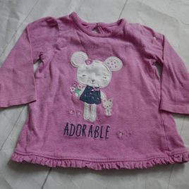 Pink 'Adorable' top 6-9 months
