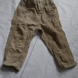 Stone cord trousers 9-12months