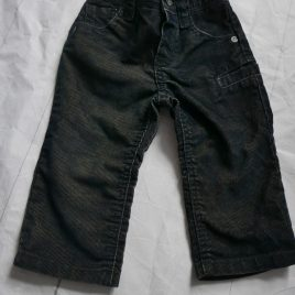 Monsoon black cord trousers 6-12months