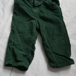 John Lewis green cord trousers 6-9 months