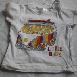 Little Dude campervan T-shirt 0-3 months