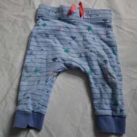 Blue boat trousers 3-6 months