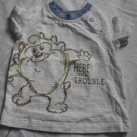 'Here comes trouble' t-shirt 6-9 months