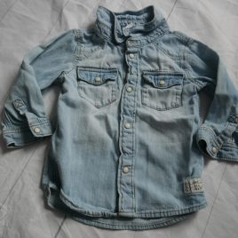 H&M denim style shirt 6-9 months