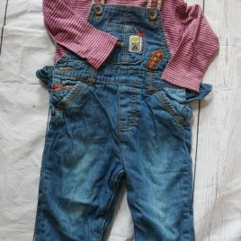 Top & dungarees outfit 9-12 months