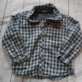 Grey & black checked shirt 4-5 years