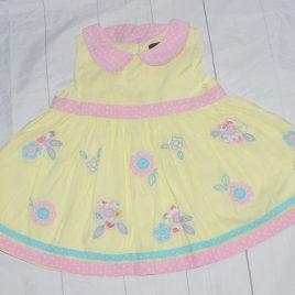 Yellow flowers dress 2-3 years