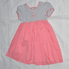 Coral & navy anchor dress 18-24 months
