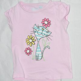 Pink cat t-shirt 2-3 years