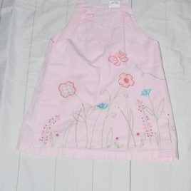 Next pink flowers pinafore dress 2-3 years