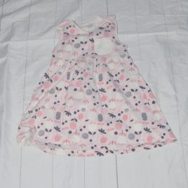 Pink flowers pinafore dress 18-24 months