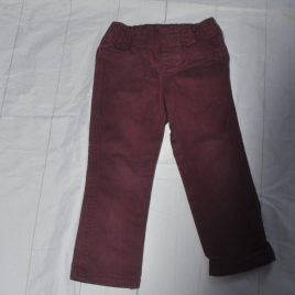 Burgundy trousers 2-3 years Mothercare