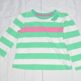 Pink & green stripy top 2-3 years