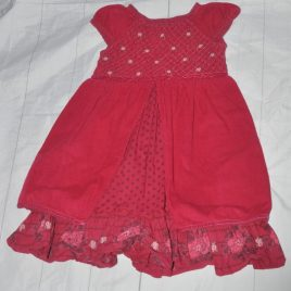 Monsoon pink/red dress 18-24 months