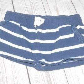 Navy stripy shorts 3 years