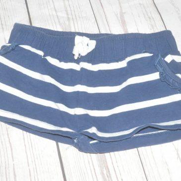Navy stripy shorts 3 years