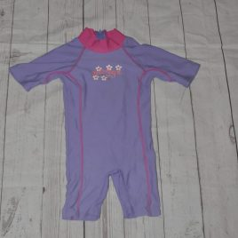 Zoggs purple swimsuit 1-2 years