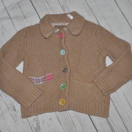 Joules brown cardigan 2-3 years