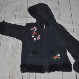 Next navy coat with mittens 2 years