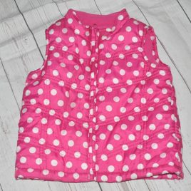 Pink Spotty Gilet bodywarmer 4-5 Years