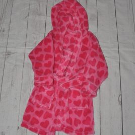 Pink hearts dressing gown 18-24 months