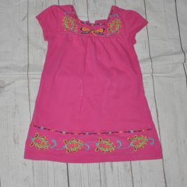 Gap pink embroidered dress 2 years