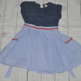 Blue Zoo blue stripy dress 2-3 years