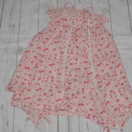 Next Pink flowers handkerchief dress 4 years