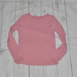 Next dusky pink ribbed top 4-5 years