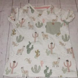 Cactus & lama t-shirt 2-3 years