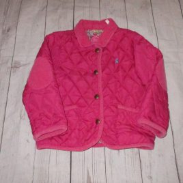 Pink joules quilted jacket 2-3 years