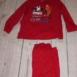 Red transport pyjamas 3-4 years