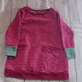 Joules pink stripy tunic top 3 years
